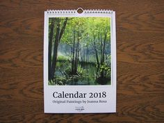 Watercolor landscapes 2018 calendar