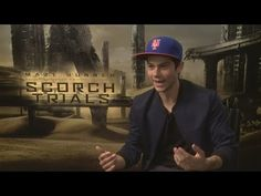 Dylan O'Brien talks Maze Runner: The Scorch Trials and gushes about girlfriend Britt Robertson - YouTube