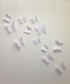 Look at this White 3-D Butterfly Wall Decal Set on #zulily today!