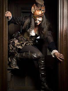 Steampunk fox mask
