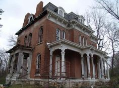 McPike Mansion: Aton, Illinois. Built in 1869 as a home for Henry Guest Mcpike, balls of light, figures in the windows and apparitions are seen throughout the house.