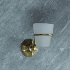 Octa Brass Tumbler Holder   Bathroom Accessories   Graham