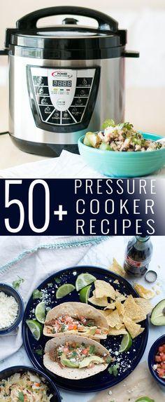 50+ Pressure Cooker Recipes | pressure cooker recipe ideas | what to cook in a pressure cooker | easy pressure cooker recipes | pressure cooker meals || Oh So Delicioso