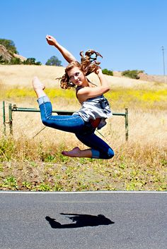 #high school senior photography #dance #jump
