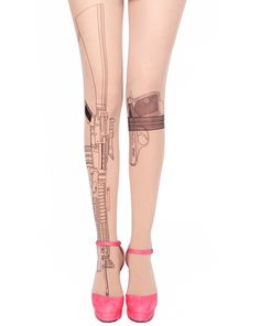 Gun  Tattoo Tights | Too Fast