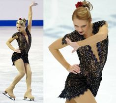 flamenca skating dress | Ksenia Makarova skating her flamenco short program at 2010 Skate ...