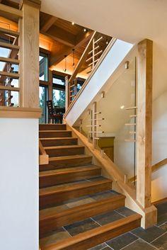 Oak Steps And Risers Custom Wood Floors Inc Red