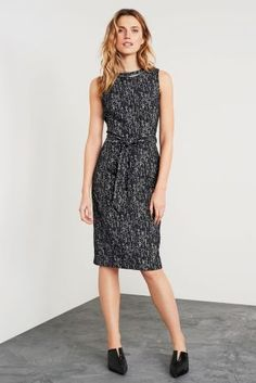 Buy Charcoal Textured Tie Waist Dress online today at Next: Israel