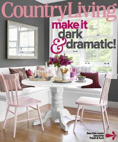 Our 48 Round Table On Cover Of Country Living Magazine!!! - eCustomFinishes