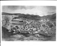 Drawing depicting San Francisco, 1849. http://digitallibrary.usc.edu/cdm/ref/collection/p15799coll65/id/9963