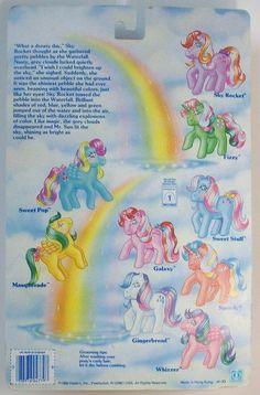 Generation One G1 vintage 1980's My Little Pony Twinkle Eyed Pony Sky Rocket earth pony new on card by serena151.  #mlpmib  #mylittlepony  #g1mlp