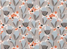 The Alva print is an abstract tulip made up of simplistic shapes in multi-colours printed on a smooth cotton. Curtain Material, Chelsea Flower Show, Print Patterns, Textiles, Textile Prints, Weaving, Villa, Colours, Upholstery Fabrics