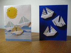 origami sailboat cards
