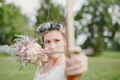 Enchanting Robin Hood or Hunger Games Inspired Woodsy Wedding Inspiration