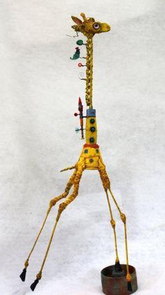 Gerard Collas, asseemblage, girafe