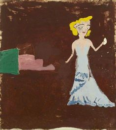 Girl on Liner by Rose Wylie Rose Wylie, Female Painters, English Artists, Art Uk, Cool Paintings, Book Making, Female Art, Oil On Canvas, Contemporary Art