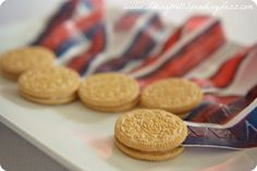"Cute snack idea for Olympics-""Gold Medal"" cookies via www.LivingWellSpendingLess.com"