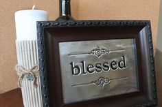 DIY embossed metal frames made with embossing metal from Hobby Lobby
