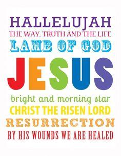 HALLELUJAH - Easter subway art http://media-cache4.pinterest.com/upload/102386591498630045_jmbfLtsH_f.jpg bossmanbunch holidays easter crafts