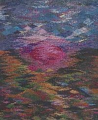 Tapestry by Claudia Chase woven on a Mirrix Loom