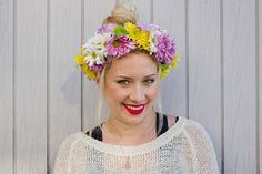 Flower Headband DIY – How To Make A Floral Garland Headpiece