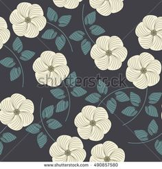 Endless pattern with beautiful flowers and leaves can be used for textile,linen, tile, kids cloth, pattern fills and more creative designs.