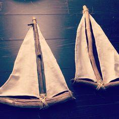 Driftwood sailboats dyi