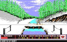 Winter Games, biathlon on the C-64.