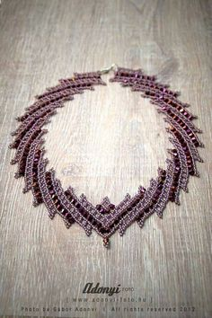 PATTERN of the diagonal weave necklace with the by BelugaBeads