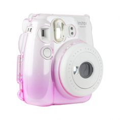 Durable hard-shell camera case fits both the Mini 8 + Mini 9 instant Cameras! - Easy to install - Clip for included adjustable strap - Fashionable protection - Durable and lightweight ****Camera Sold Separately**** Polaroid Camera Instax, Polaroid Cases, Pink Camera, Cute Camera, Instax Mini Case, Fujifilm Instax Mini, Camara Fujifilm, Mini 8, Camera Accessories