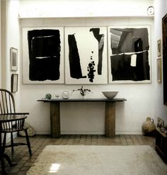 Kettle's Yard, Cambridge. Prints, hall table and windsor chair