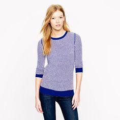 Collection cashmere waffle sweater - crewnecks - Women's sweaters - J.Crew