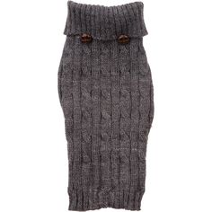 Petco Pup Crew Charcoal Gray Cable Knit Dog Sweater