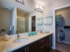 Bramley Townhome Showhome - Gateway at Williamstown in Airdrie Alberta Townhouse, Mirror, Bathroom, Furniture, Design, Home Decor, Washroom, Decoration Home, Terraced House