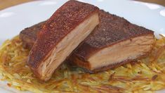 Receta de panceta crujiente Chicharrones, Bao, Steak, French Toast, Sandwiches, Pork, Breakfast, Youtube, Kimchi Recipe