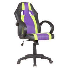 Goplus PU Leather Executive High Back Race Car Style Bucket Seat Office Chair Desk Task