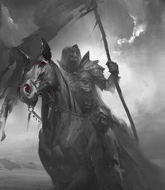 Grim reaper riding on horse digital wallpaper, drawing, death, monochrome, horseman HD wallpaper Grim Reaper Art, Grim Reaper Tattoo, Don't Fear The Reaper, Dark Fantasy Art, Dark Art, Fantasy Creatures, Mythical Creatures, Apocalypse Tattoo, Norse Mythology
