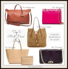 Top 5 Must Have Bags - bags every woman should have in her closet and why. (scheduled via http://www.tailwindapp.com?utm_source=pinterest&utm_medium=twpin&utm_content=post798125&utm_campaign=scheduler_attribution)