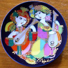 Claus Dalby - my arrangements suited Vintage Plates, Royal Copenhagen, Danish Design, Plates On Wall, Art Images, Folk Art, Oriental, Decorative Plates, Pottery