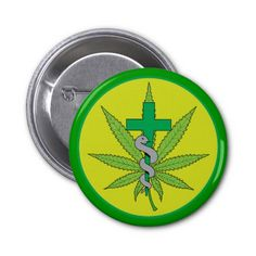 Cannabis Medical Green Cross with Snake Buttons $4.20 Medical Marijuana symbol created especially for Sunshine Delivery, LLC, ©RGebbiePhoto 2014 Green marijuana pot leaf with a green cross and a grey snake slithering up a staff. Green circle with light yellow background. Sunshine Delivery, LLC is located in Washington State. Makers of Hippy Hugs and other fantastic medible concoctions. Cannabis, Medibles, cannaboids, Medical Marijuana, MMJ.