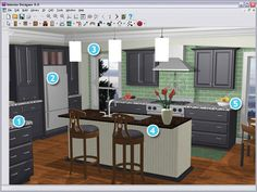 Use free kitchen design software to determine the best layout. Are you looking for the best program that easy to use? Home Design, Kitchen Design Software, Free Kitchen Design, New Kitchen Designs, Küchen Design, Modern Kitchen Design, Modern Kitchens, Design Ideas, Layout Design