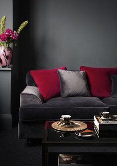 ♂ Burgundy and dark grey interior House