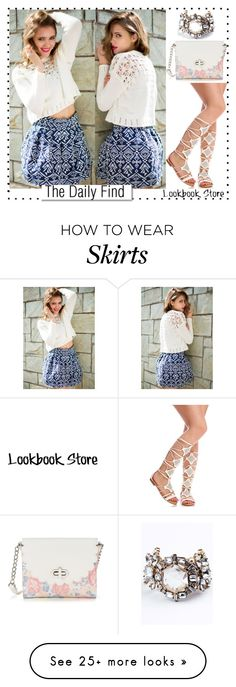 """The Daily Find: High Waist Flared Skirt"" by lookbookstore on Polyvore featuring Candie's and White Label"