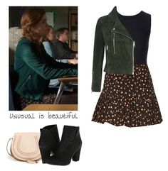 """""""Lydia Martin - tw / teen wolf"""" by shadyannon ❤ liked on Polyvore featuring Maison Margiela, Forever 21, Topshop, Chloé and Vince Camuto"""