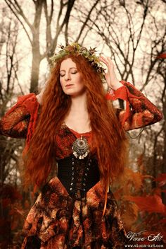 Aine is the Irish goddess of summer, love, wealth, and fertility.  Her husband was Crom Dubh, also called Cromm Cruach, the Irish god of death and the harvest.