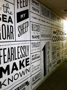Black and white wall mural!