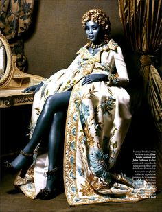 Christian Dior Spring 2005 Haute Couture  Magazine: Citizen K, 2005 Photographer: Michael Sanders  Model: Naomi Campbell