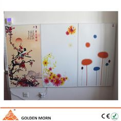 Infrared heaters could be connected together  to use. And we could print any pictures on the surface of heater. Your home will become more beautiful.