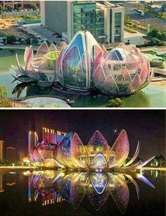 The beautiful Lotus building in China