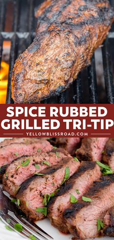 This Spice Rubbed Grilled Tri Tip is the BEST EVER recipe for Tri Tip on the grill. With 10 spices and seasonings this grilled tri tip is tender and juicy. Grilled Tri Tip Recipes, Grilling Recipes, Recipe For Tri Tip Steak, Grilling Tips, Recipe Tips, Tri Tip Traeger Recipe, Best Tri Tip Recipe, Tri Tip Smoker Recipes, Best Tri Tip Marinade